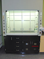Pillar Lights used in Fume Hoods. Click image for a larger view.