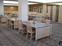Worden used Pillar lights to provide task lighting in this library renovation.